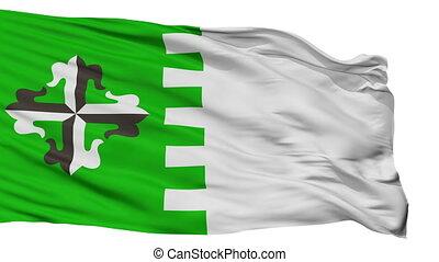 Isolated Guaynabo city flag, Puerto Rico - Guaynabo flag,...