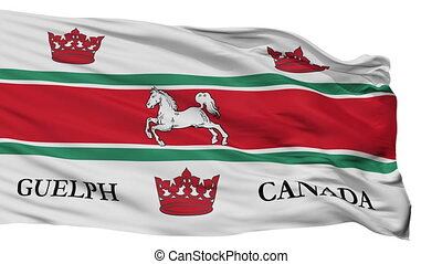 Isolated Guelph city flag, Canada - Guelph flag, city of...