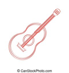 Isolated guitar icon