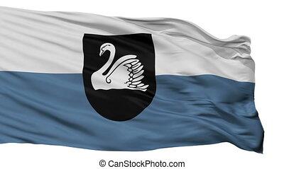 Isolated Gulbene city flag, Latvia - Gulbene flag, city of...