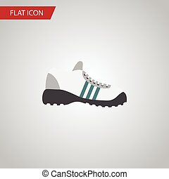 Isolated Gumshoes Flat Icon. Sneakers Vector Element Can Be Used For Sneakers, Gumshoes, Shoes Design Concept.