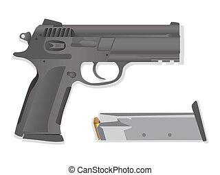 isolated gun detailed realistic illustration