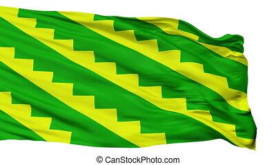 Isolated Gurabo city flag, Puerto Rico - Gurabo flag, city...