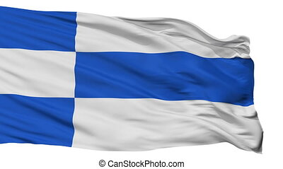 Isolated Haapsalu city flag, Estonia - Haapsalu flag, city...