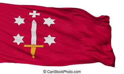 Isolated Haarlem city flag, Netherlands - Haarlem flag, city...