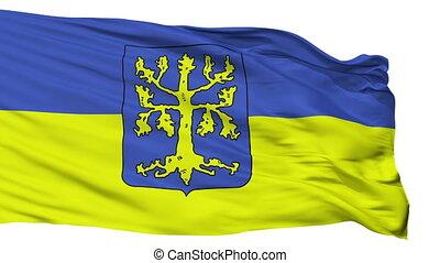Isolated Hagen city flag, Germany - Hagen flag, city of...
