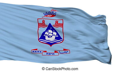 Isolated Haifa city flag, Israel - Haifa flag, city of...