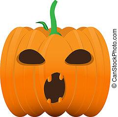 Isolated halloween pumpkin