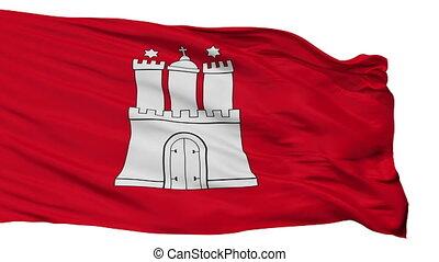 Isolated Hamburg city flag, Germany - Hamburg flag, city of...