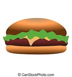 Isolated hamburger icon
