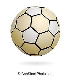 Isolated handball soccer ball