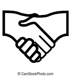 Isolated handshake icon image