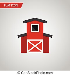 Isolated Hangar Flat Icon. Depot Vector Element Can Be Used...