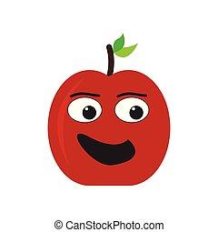 Isolated happy apple emote