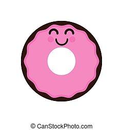 Isolated happy donut emote