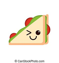 Isolated happy sandwich emote
