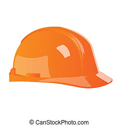 isolated hard hat - illustration of hard hat on white...