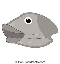 Isolated head fish icon