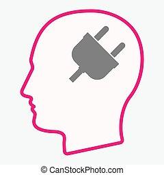 Isolated  head with a plug