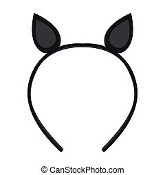 Isolated headband icon with ears