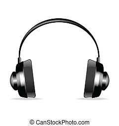 isolated headphone - illustration on headphone on isolated ...