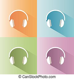 Isolated headphones icon on a white background