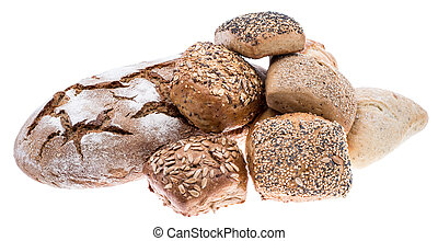 Isolated heap of bread