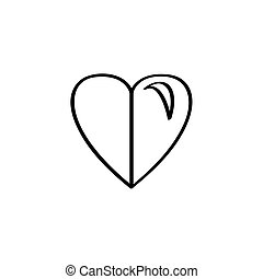 Isolated heart shape icon on a white background