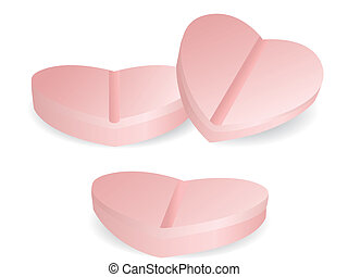 heart shape of medicine - isolated heart shape of medicine...