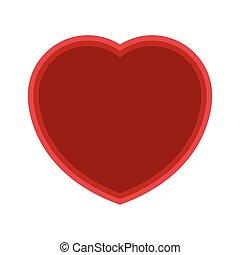 Isolated heart shape symbol on white background