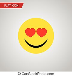 Isolated Heart-Shaped Eyes Flat Icon. Love Vector Element Can Be Used For Smile, Heart, Eyes Design Concept.