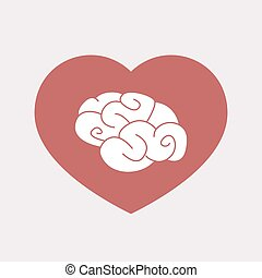 Isolated heart with a brain