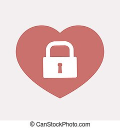 Isolated heart with a closed lock pad