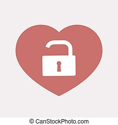 Isolated heart with an open lock pad