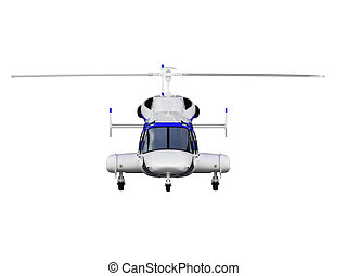 helicopter over white - isolated helicopter over white ...