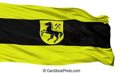 Isolated Herne city flag, Germany - Herne flag, city of...