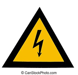 High voltage - Isolated High voltage sign