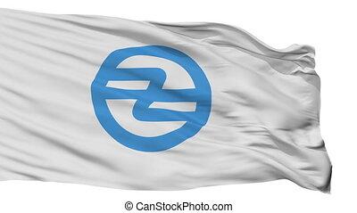Isolated Hita city flag, prefecture Oita, Japan - Hita flag,...