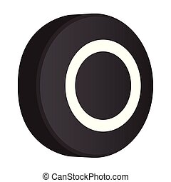 Isolated hockey puck icon