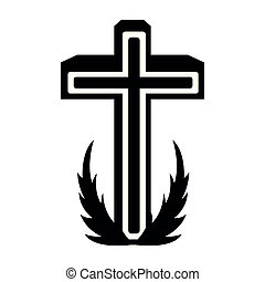 Isolated holy cross icon