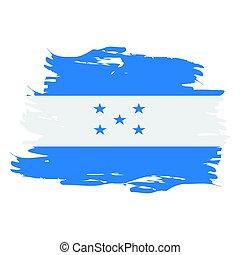 Isolated Honduras flag