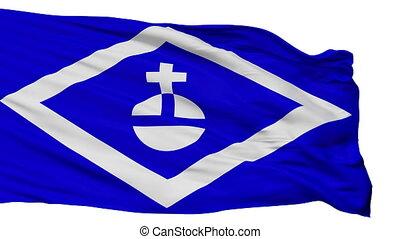 Isolated Hormigueros city flag, Puerto Rico - Hormigueros...