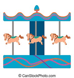 Isolated horse carousel