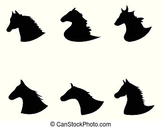 horse head Silhouette icon