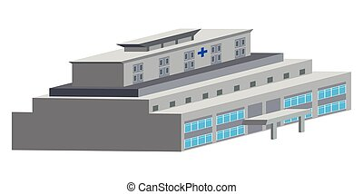 Isolated hospital building