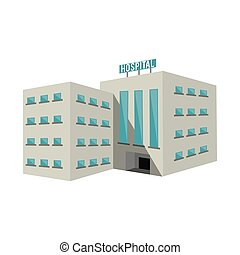 Isolated hospital building design - Hospital building icon....