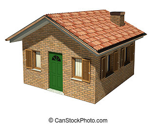 isolated house model