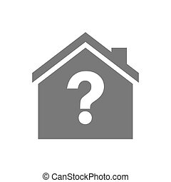 Isolated house with a question sign