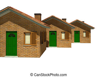 isolated houses model