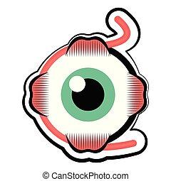 Isolated human eye